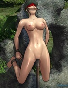 Babes with big boobies get impaled on a big stick. Female General 3 by
