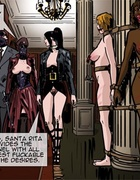 Two mistresses are ready to see colonel's collection of hotties. Prison