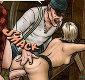 Tied up blonde slave gets rammed hard from behind. Breeders: New Blood