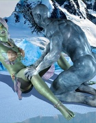Iceman fucking a green slut with so much passion