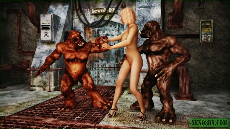 Horny red monsters fucking a sweet blonde teen - Picture 3