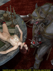 Super horny werewolf fucking a sweet redhead honey - Picture 4
