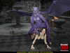 Purple gargoyle fucking Lara Croft with his large dong