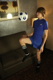 wears hot soccer outfit