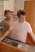 young gay couple make