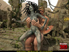 Gordgon bitch riding a terrific human dick in this scene