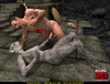 Horny beast sucks a human dick and gets rammed so hard