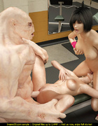 Horny human whores getting nailed in the gym so hard