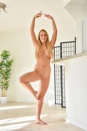 long haired blonde model