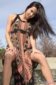 long haired teen model