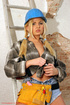 blonde construction worker sticks