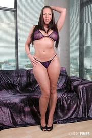 banging brunette purple underwear