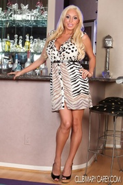 alluring blonde pose her