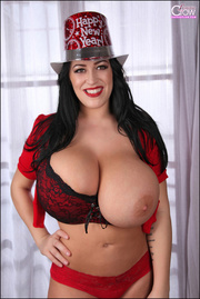 busty seductress dresses red