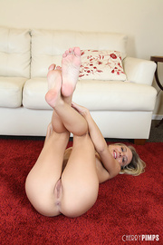 foxy blonde with banging