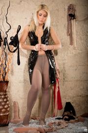 blonde gal latex makes