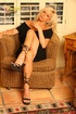 blonde darling black outfit