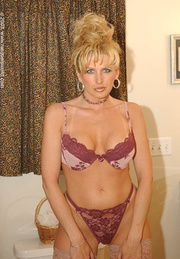 blonde glamour bitch lingerie
