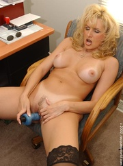 mature blonde office bitch