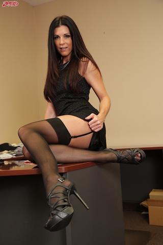 dark haired woman lingerie