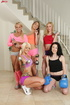 These slutty gym ladies are ready for hot group sex