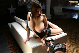 big tits, brunette, individual model, knockers