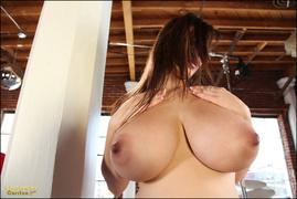 big tits, brunette, individual model, sensual