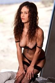 beautiful woman black leggings