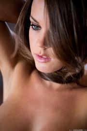 seductive brunette takes off