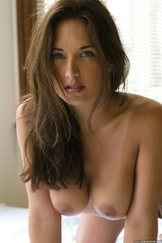 sultry brunette rolls around