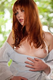 red head shows off