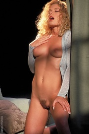 blonde and curly slut