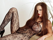 stunning red-head bodystocking and