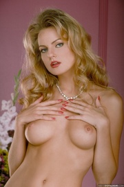 horny blonde stockings and