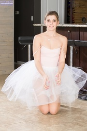 lovely ballerina shows her