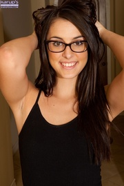cute babe with glasses