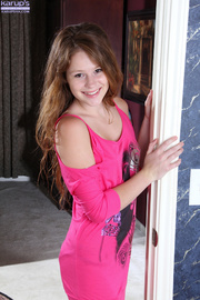 teen redhead shows her