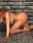 Thick and beautiful princess gets naked and poses sexily on the floor.