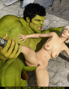 Green monster cock for a tiny blonde whore