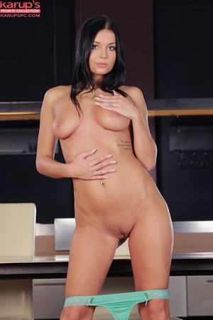Sexy raven haired beauty plays with her  - XXX Dessert - Picture 8
