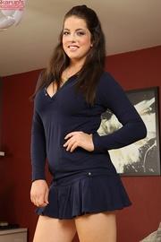 curvy brunette babe slips