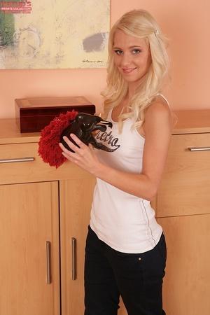 Sweet blonde teen plays with her snatch  - XXX Dessert - Picture 2