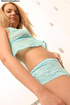 Shy blonde babe strips naked in bath show her lustful curves
