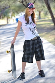 cool young skater girl