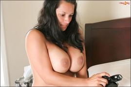 big tits, brunette, pale, tight
