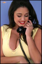 hot secretary with big