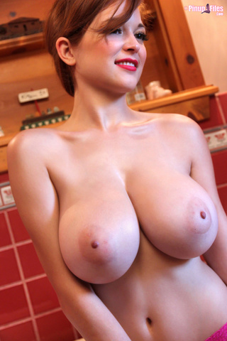 stunning woman huge breasts