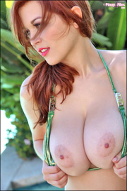 horny redhead with beautiful