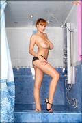 big tits, redhead, shower, tits