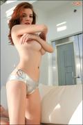 bathroom, big tits, redhead, tits